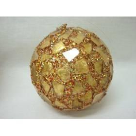 Colgante Navidad Bola Dorado Pequena