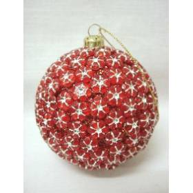 Colgante Navidad Bola Rojo Pequeno