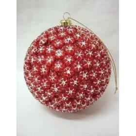 Colgante Navidad Bola Rojo Grande