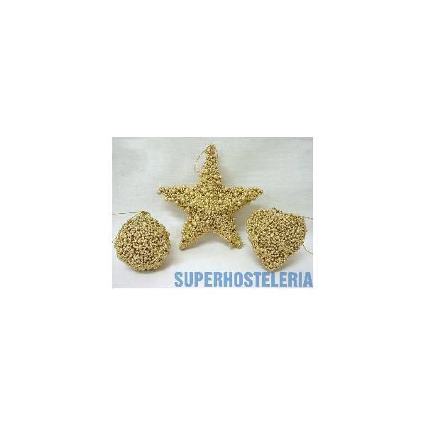 Juego 3 Colgantes Navidad Dorado Grande suministros hosteleros