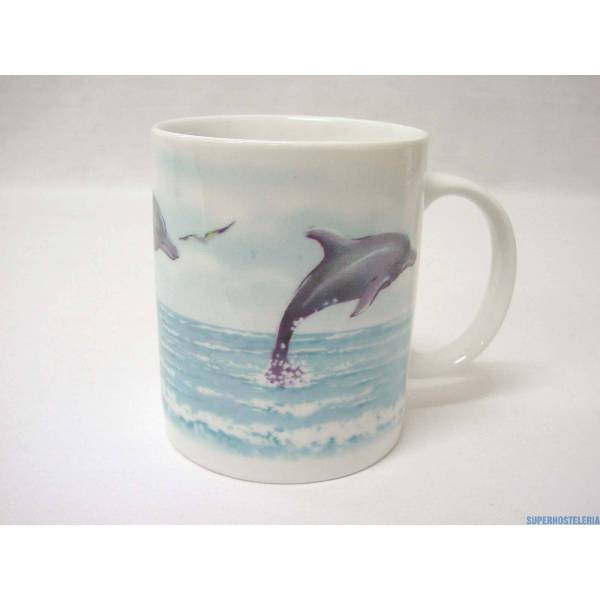 Taza Mug Recta 340Ml Delfin