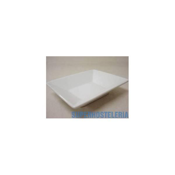 Cuenco Rectangular Porcelana Blanco suministros hosteleros