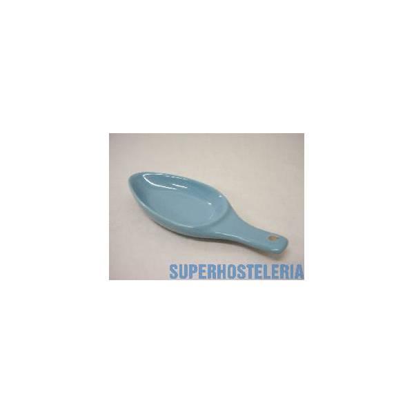 Cuenco Cuchara Tapas Porcelana Azul