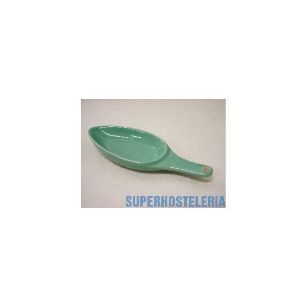 Cuenco Cuchara Tapas Porcelana Verde suministros hosteleros
