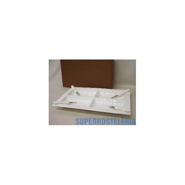 Entremesero Pinchos Porcelana Blanco suministros hosteleros
