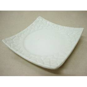 Plato Mini Empedrado Porcelana Blanc