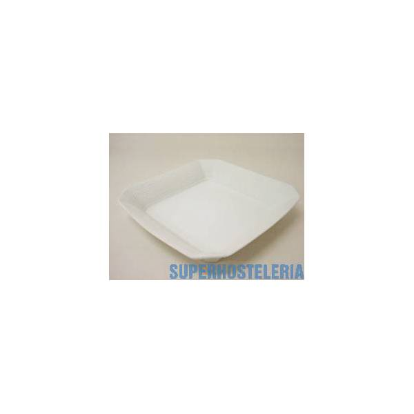 Plato Nilo Hondo Porcelana Blanco