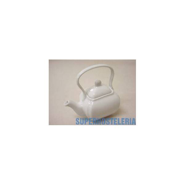 Figura Mini Tetera Porcelana Blanco