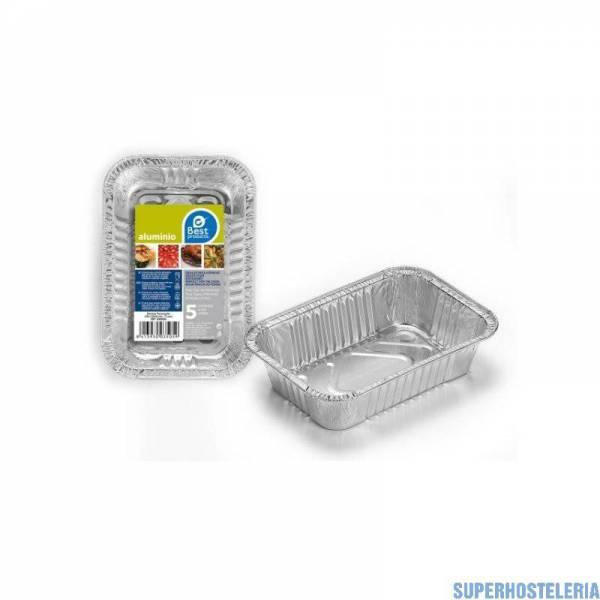 5 bandejas de aluminio desechables 155*100*35 suministros hosteleros