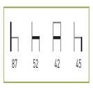 medidas de Las Sillas de hostelería Alhaurín