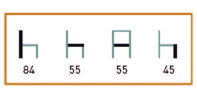 medidas de Los sillones de hostelería Gandía