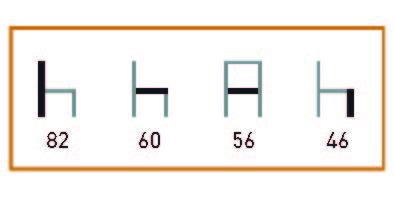 medidas de Los sillones de hostelería Úbeda