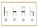 medidas de Los sillones de hostelería Logroño