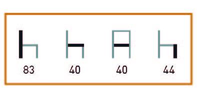 medidas de Los sillones de hostelería Paterna